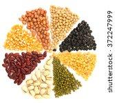 assortment of beans and lentils ... | Shutterstock . vector #372247999