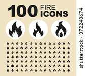 fire and flame icons. bonfire... | Shutterstock .eps vector #372248674