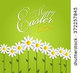 happy easter spring background... | Shutterstock .eps vector #372257845