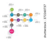 business timeline element for...   Shutterstock .eps vector #372260737