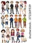 hipster people in fashionable... | Shutterstock .eps vector #372269539
