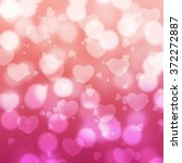 abstract pink hearts  bokeh... | Shutterstock . vector #372272887
