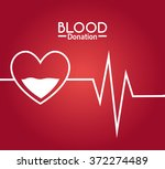 blood donation campaign | Shutterstock .eps vector #372274489