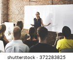 business team training...   Shutterstock . vector #372283825