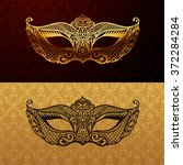 beautiful mask of lace. mardi...   Shutterstock .eps vector #372284284