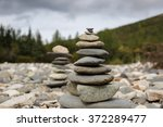 Rocks Stacked Close Up In A...