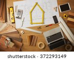 architect and home interior... | Shutterstock . vector #372293149