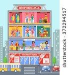 shopping mall center store... | Shutterstock .eps vector #372294517