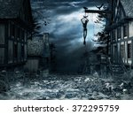 horror scenery with old... | Shutterstock . vector #372295759