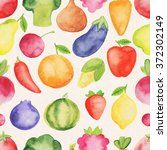 watercolor seamless pattern... | Shutterstock . vector #372302149