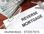 reverse mortgage form on a... | Shutterstock . vector #372317671