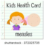 health card with girl having... | Shutterstock .eps vector #372325735