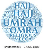 umrah info text  word cloud  ... | Shutterstock . vector #372331801