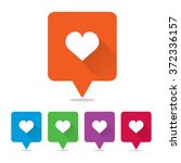 heart or love pins | Shutterstock .eps vector #372336157