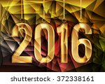 happy new year and merry... | Shutterstock .eps vector #372338161