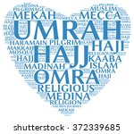 umrah info text  word cloud  ... | Shutterstock . vector #372339685