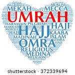 umrah info text  word cloud  ... | Shutterstock . vector #372339694