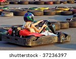 young woman on carting... | Shutterstock . vector #37236397