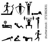 human stick figure body... | Shutterstock .eps vector #372382831