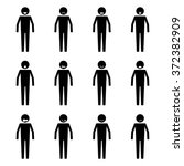 stick figure people emotion or... | Shutterstock .eps vector #372382909