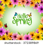 colorful flowers background...