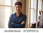 portrait of businesswoman in... | Shutterstock . vector #372393511