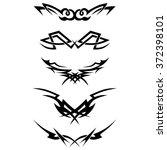 tattoo tribal lower back... | Shutterstock .eps vector #372398101