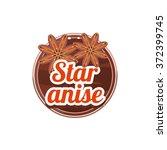star anise spice. decorative... | Shutterstock .eps vector #372399745