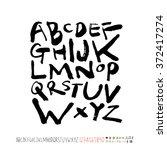 alphabet   number   handwriting ...   Shutterstock .eps vector #372417274