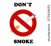 no smoking sign on white... | Shutterstock .eps vector #372424051
