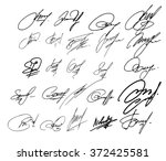 collection of vector signatures ... | Shutterstock .eps vector #372425581