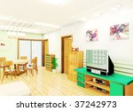 a living room illustration... | Shutterstock . vector #37242973