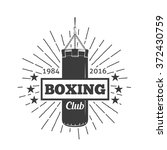 boxing club and martial arts... | Shutterstock .eps vector #372430759