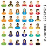 people icons     sports and... | Shutterstock .eps vector #372434341