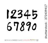 alphabet   number   handwriting ... | Shutterstock .eps vector #372439417