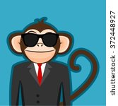 Monkey In Business Man Suit...