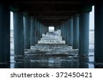 Ocean Waves Under The Piers...