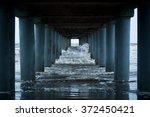 Ocean Waves Under The Piers...