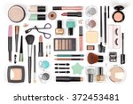 makeup cosmetics  brushes and... | Shutterstock . vector #372453481