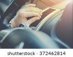 a man sliding air conditioner... | Shutterstock . vector #372462814