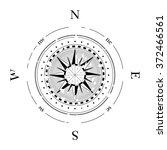 compass navigation dial  ... | Shutterstock .eps vector #372466561