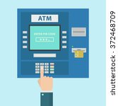 atm payment vector illustration.... | Shutterstock .eps vector #372468709