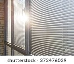 closed aluminum window on sunny ... | Shutterstock . vector #372476029