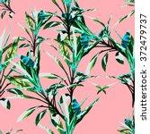 seamless  tropical flower ... | Shutterstock . vector #372479737