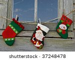Christmas Socks Outside Old...