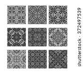 seamless tiling black and white ... | Shutterstock . vector #372497539