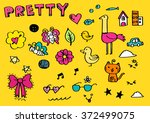 pretty children background... | Shutterstock .eps vector #372499075
