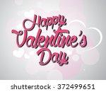 valentine's day calligraphy... | Shutterstock .eps vector #372499651