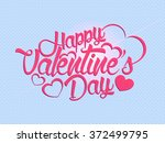 valentine's day calligraphy... | Shutterstock .eps vector #372499795