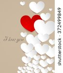valentine's day red and white... | Shutterstock .eps vector #372499849
